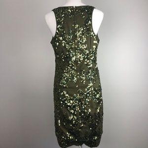 d007a3b3 J. Crew Dresses | J Crew 4 Iridescent Olive Sequin Shift Dress ...